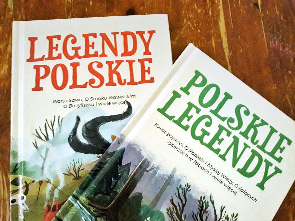 """Okładki książek """"Legendy polskie"""" i """"Polskie legendy"""" - dla wielbicieli kultury słowiańskiej"""