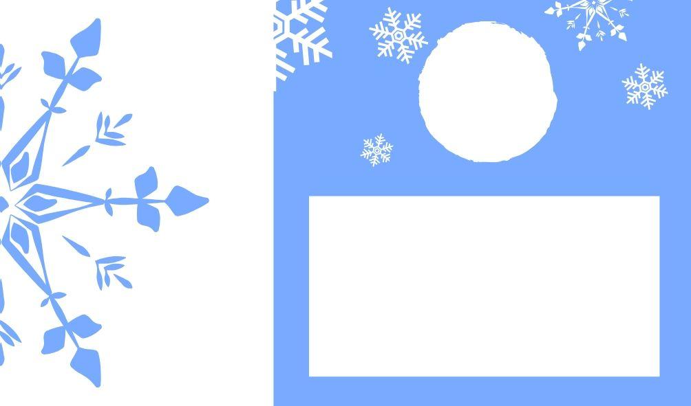 Kartka do kalandarza adwentowego w niebieskiej wersji